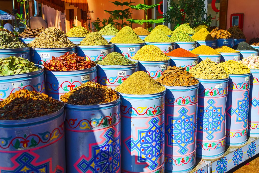 Spices for sale in Marrakech