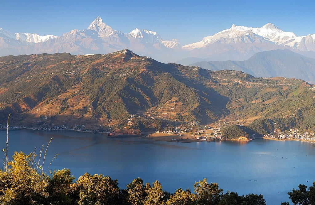 Looking down on the Pokhara Valley