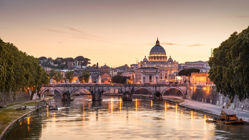 Evening view of the Vatican, Rome
