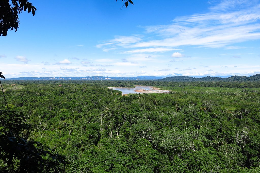 View over the Bolivian Amazon