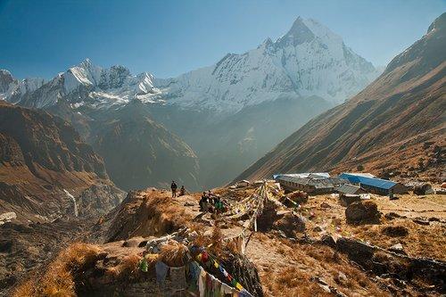 Early morning at Annapurna Base Camp (4,130 m)