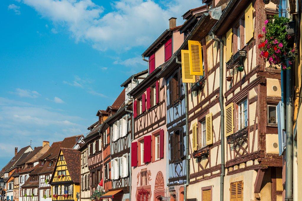 Buildings in the Old Town in Strasbourg