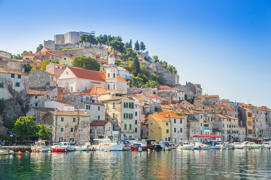 The Old Town of Sibenik along the Adriatic Coast