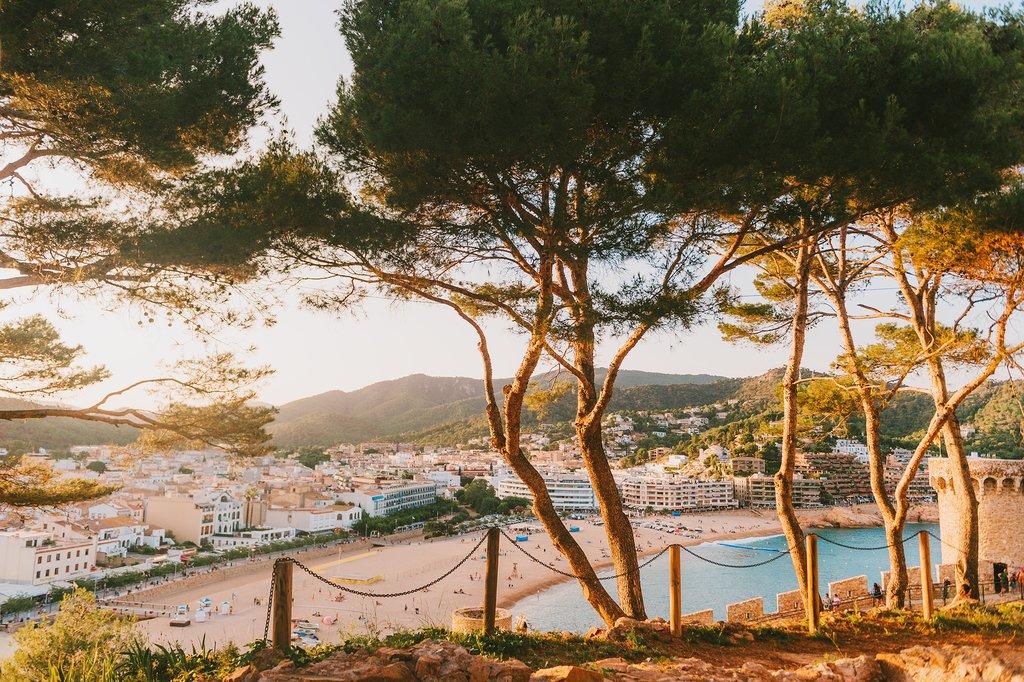 View of Tossa de Mar from Vila Vella Fortress