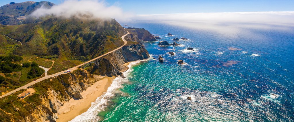 Aerial views of Big Sur