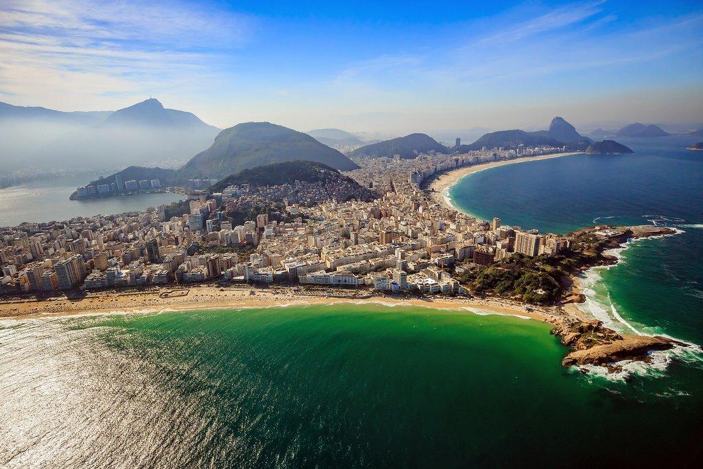 Copacabana and Ipanema Beach in Rio de Janeiro, Brazil