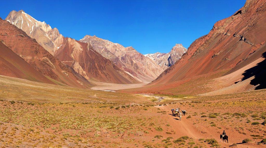 High-altitude scenery outside of Mendoza