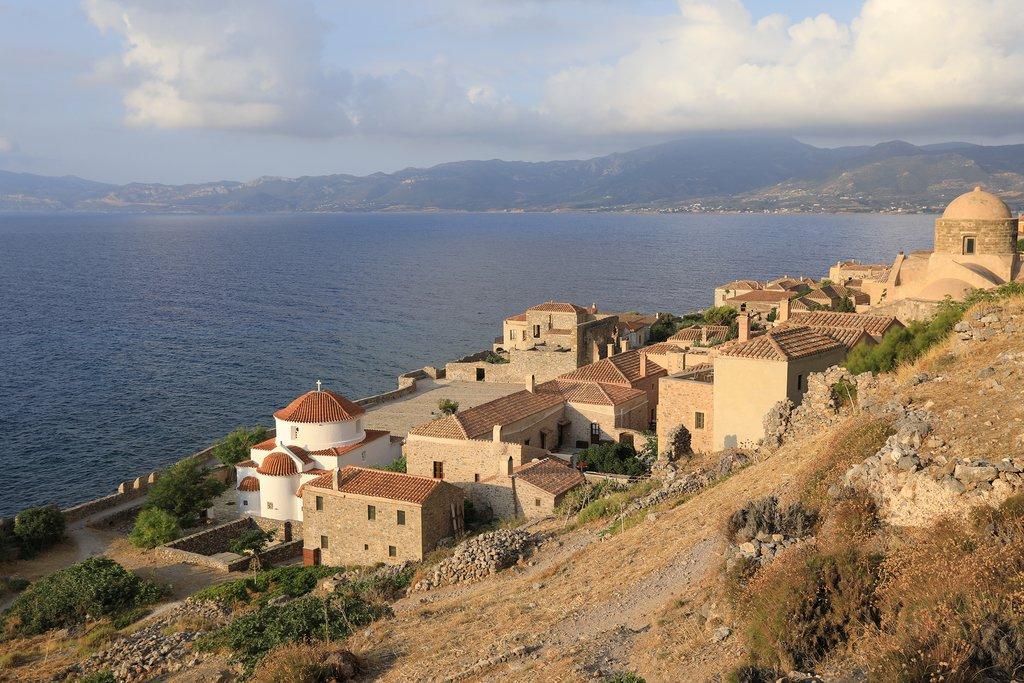 Monemvasia fortress on the Aegean