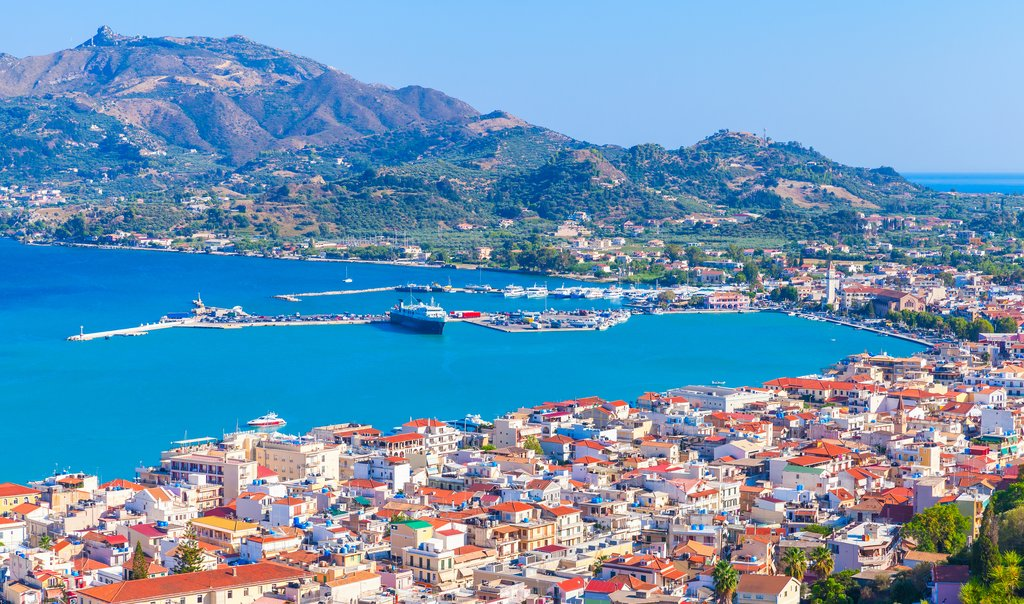 The main port of Zakynthos, also known as Zante