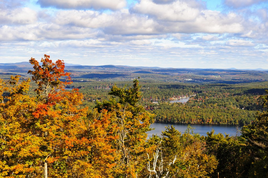 A view from Wachusett Mountain in Fall