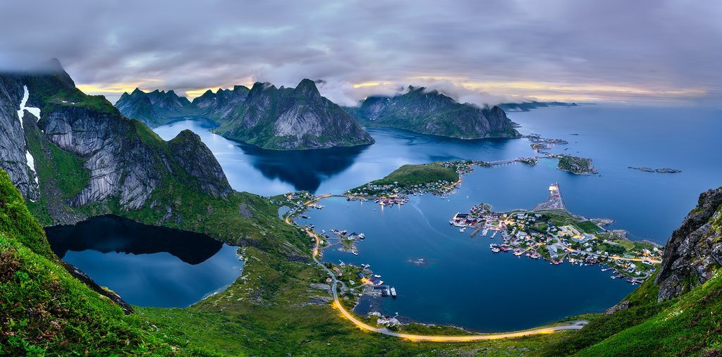 This is as close to a sunset as it gets in the Lofoten Islands during June