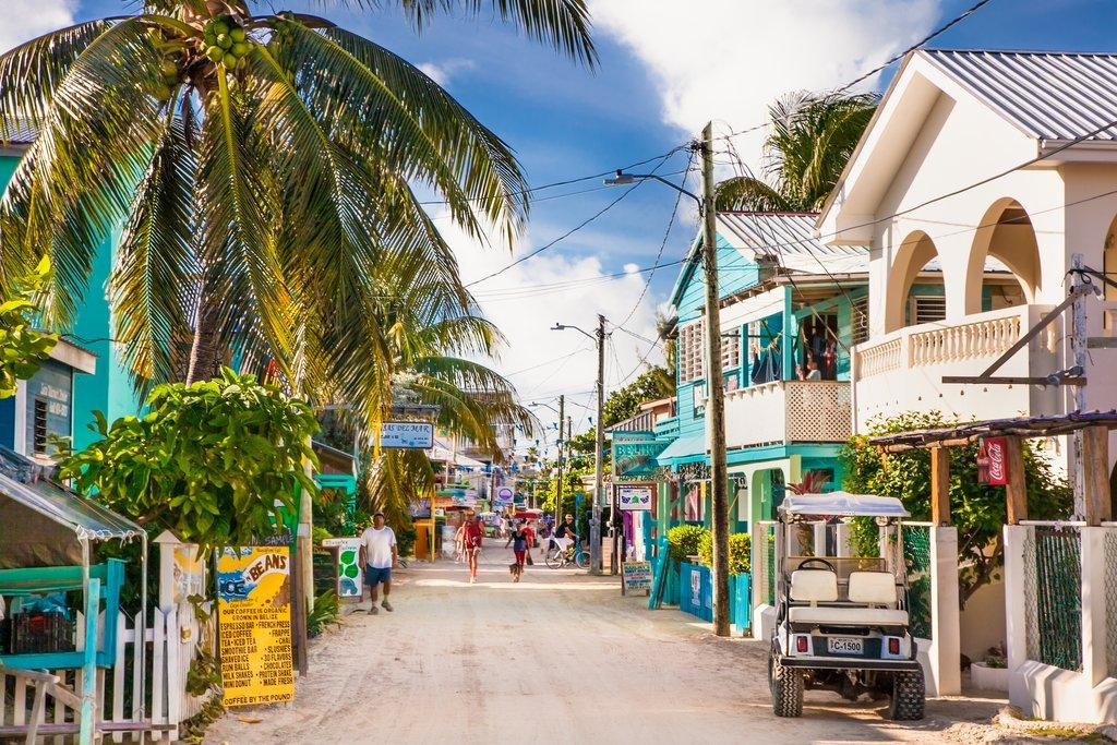 Streets of Caye Caulker Village, Belize
