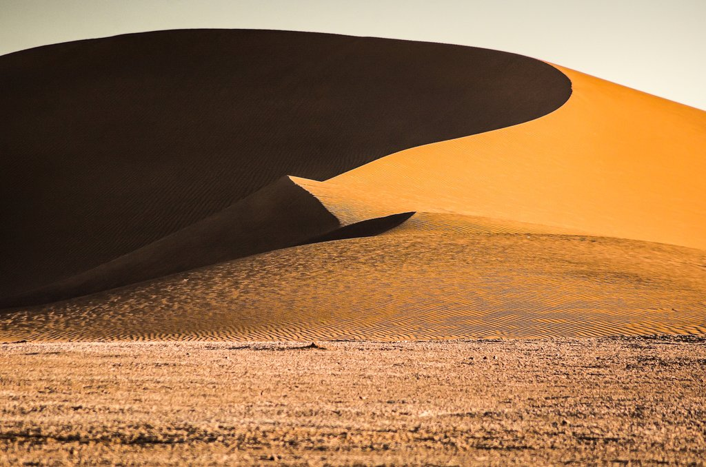 Sand dunes in the Moroccan Sahara