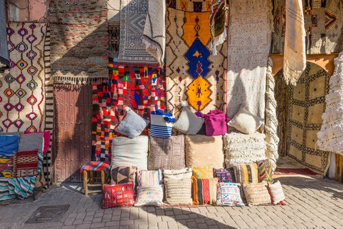 Traditional wares await in the bustling souks