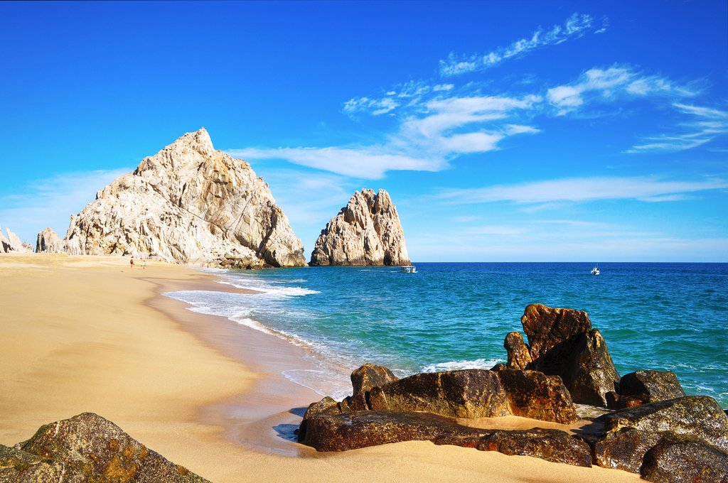 Lovers Beach in Cabo San Lucas, Baja California Sur, Mexico.