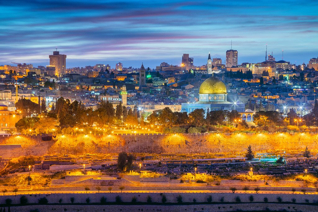 The Old Town in Jerusalem in the evening