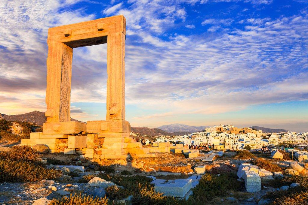 The ancient Portara gate on Naxos