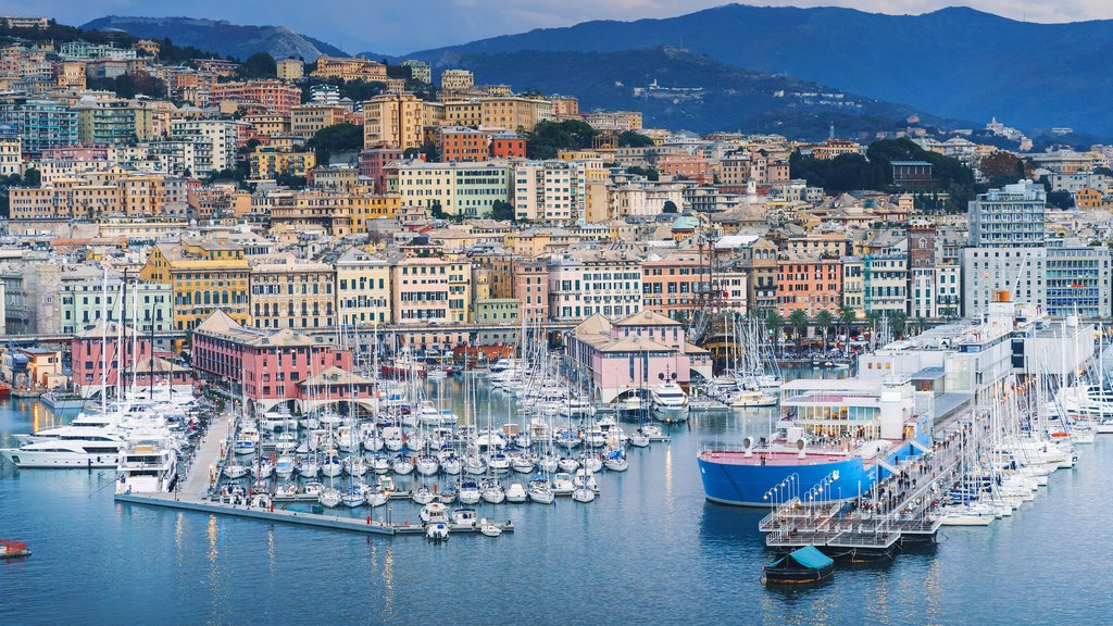 Genoa's historic port and town center