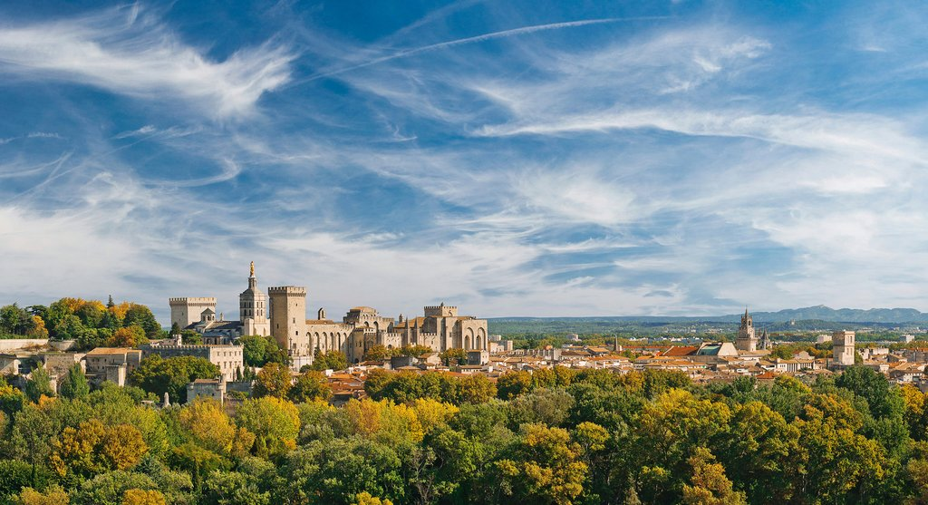 The historic Palais des Papes (Pope's Palace) in Avignon