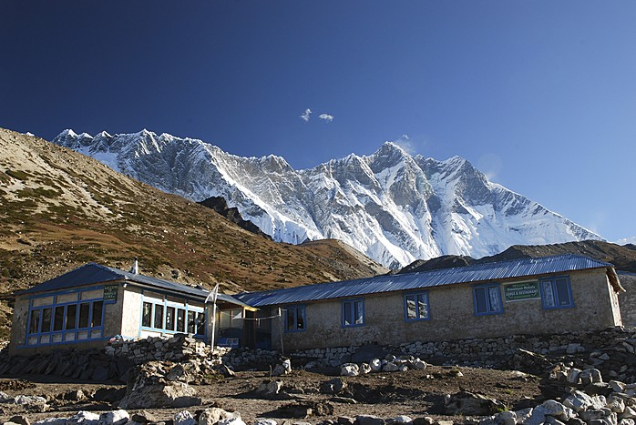 View of the Lhotse Wall from the village of Chukhung (5,550 m)