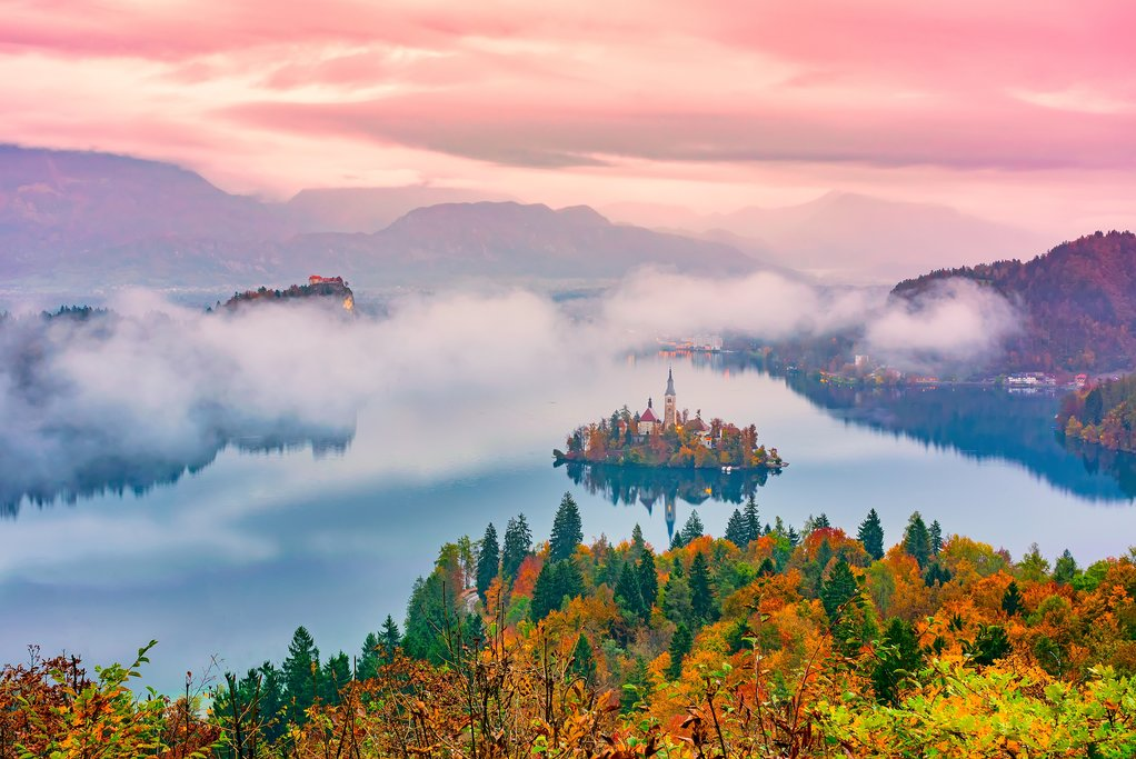 Autumn on Lake Bled