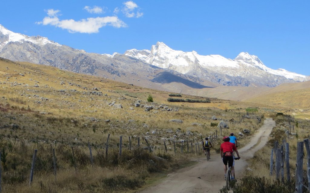 Biking trail in the Andes
