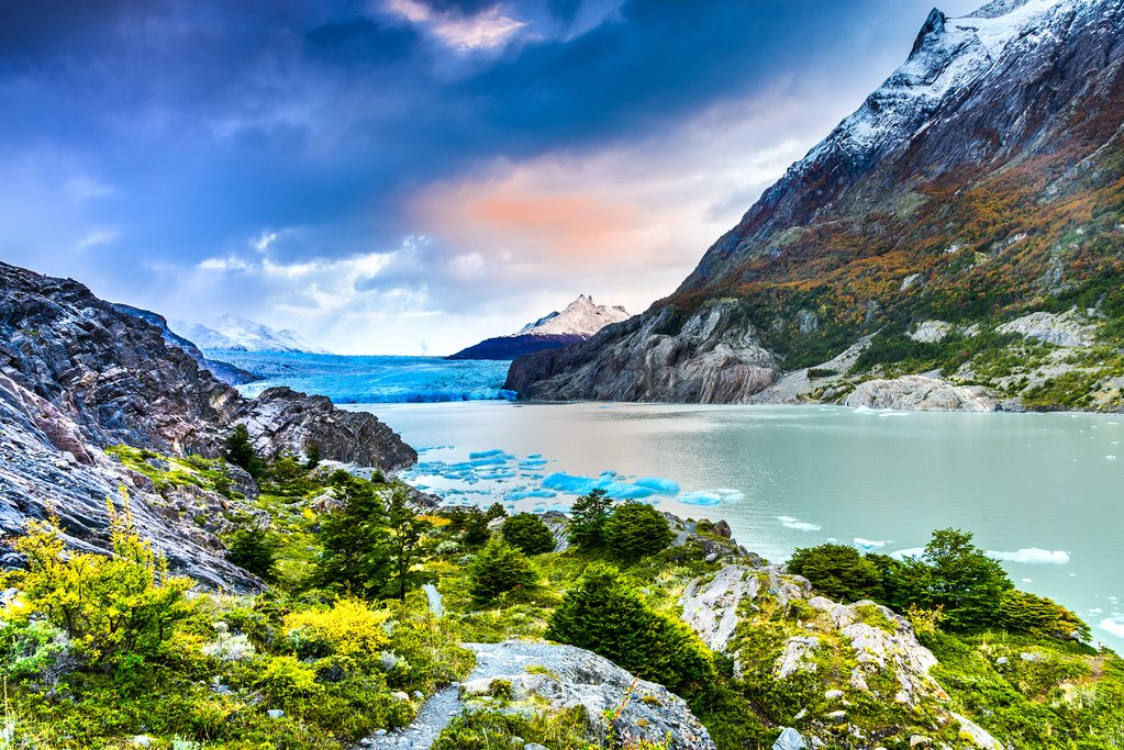 Hike into the world of Torres del Paine's glaciers and mountains