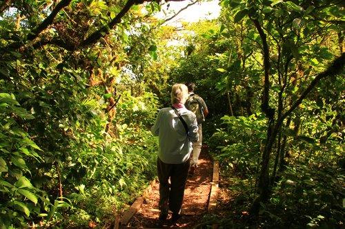Walking at Mombacho Volcano