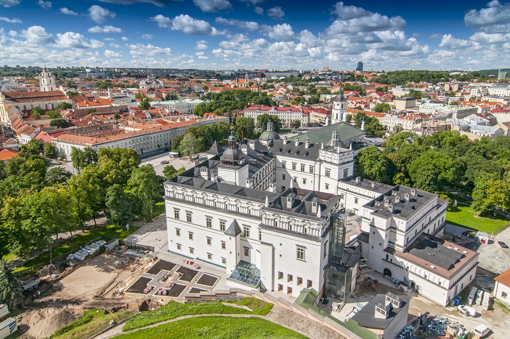 View of Cathedral Square in Vilnius