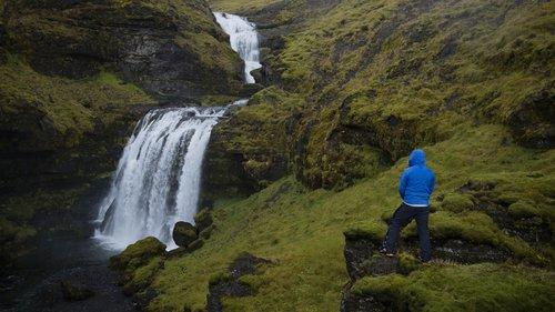 Icelandic hidden waterfall