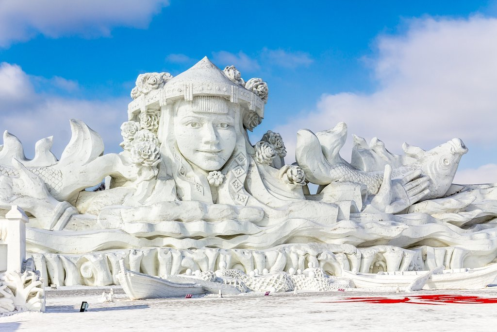 Visit China's most north-easterly city, Harbin, for its world-famous ice festival