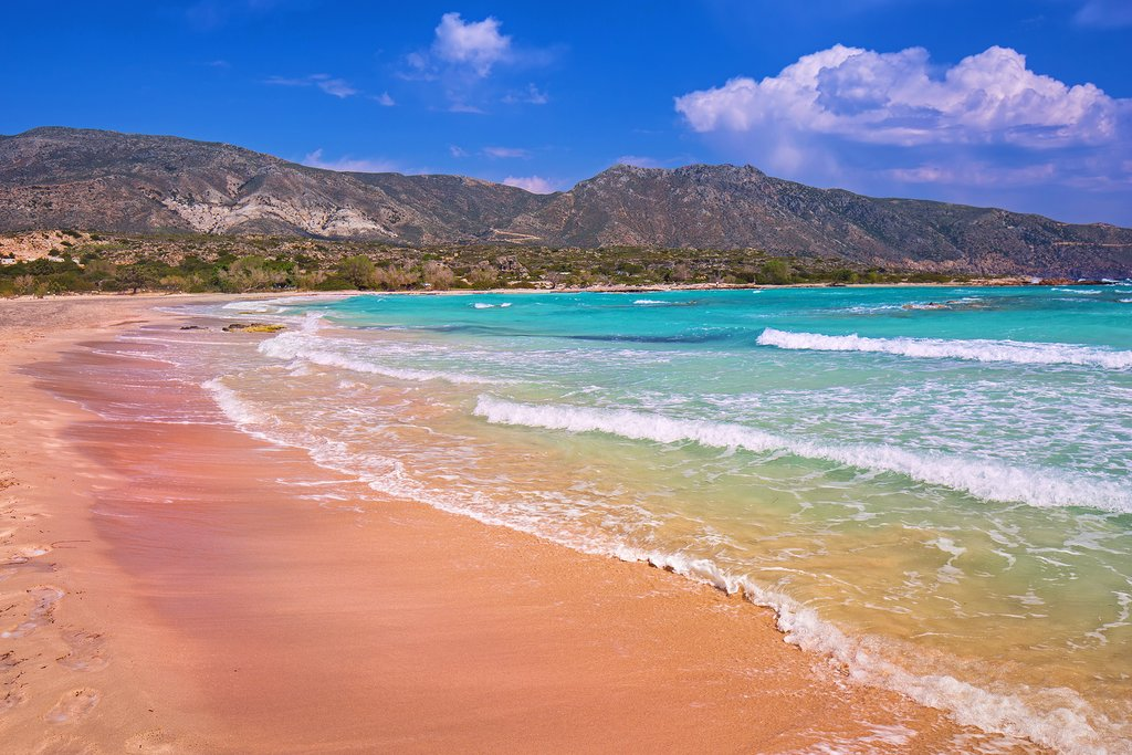 Elafonissi's famous pink sand beach