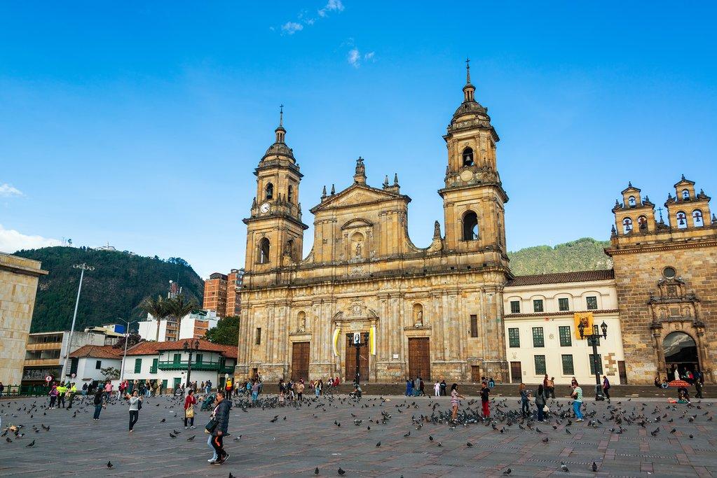Plaza de Bolivar in Bogotá.