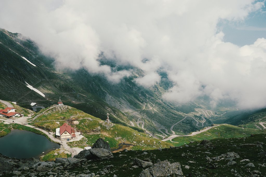 Transfagarasan Pass in the Carpathian Mountains