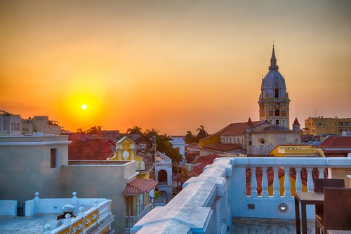 Finish your trip in romantic Cartagena, with rooftop bars and Caribbean sunsets.