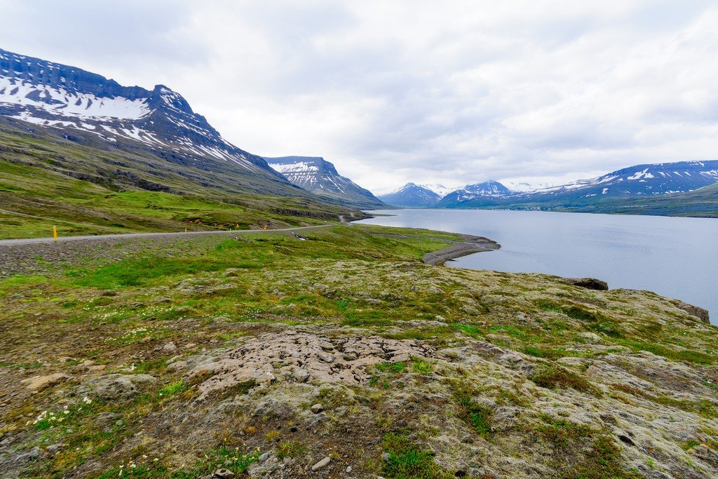 Coast line in the East Fjords