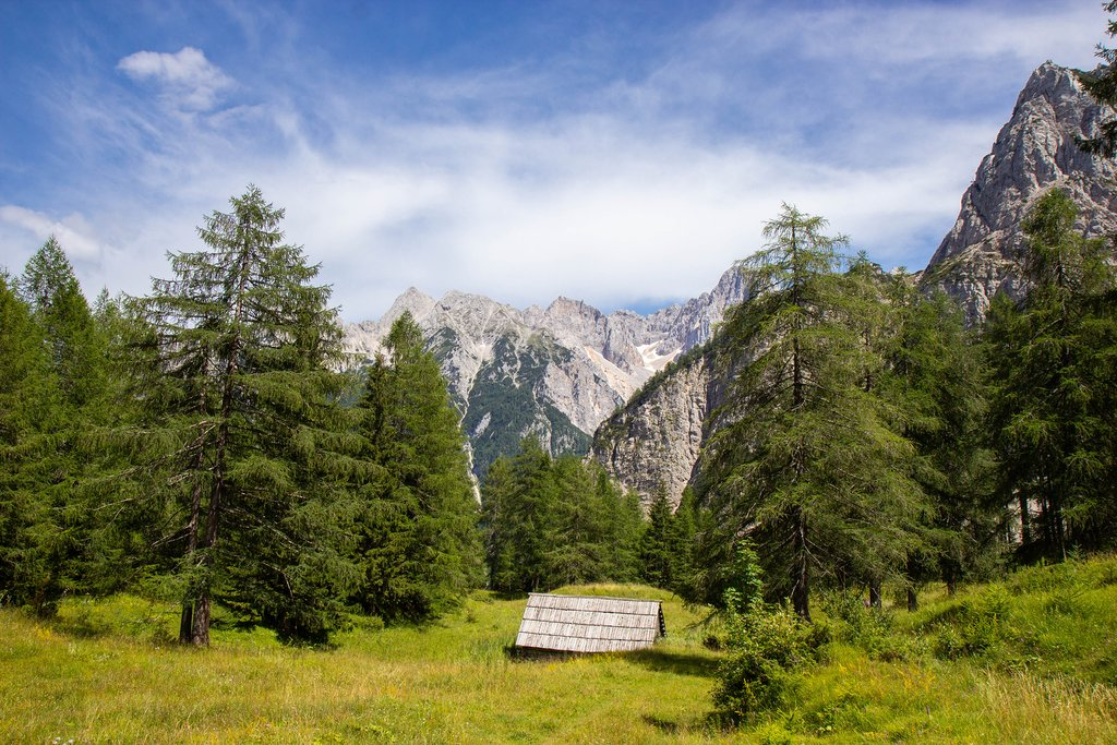 View of the Julian Alps from Vrsic Pass