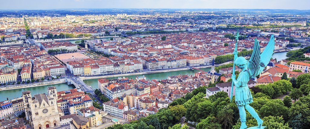 View of Lyon from the Fourviere cathedral