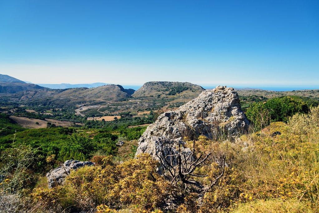 The beautiful interior landscape of Crete