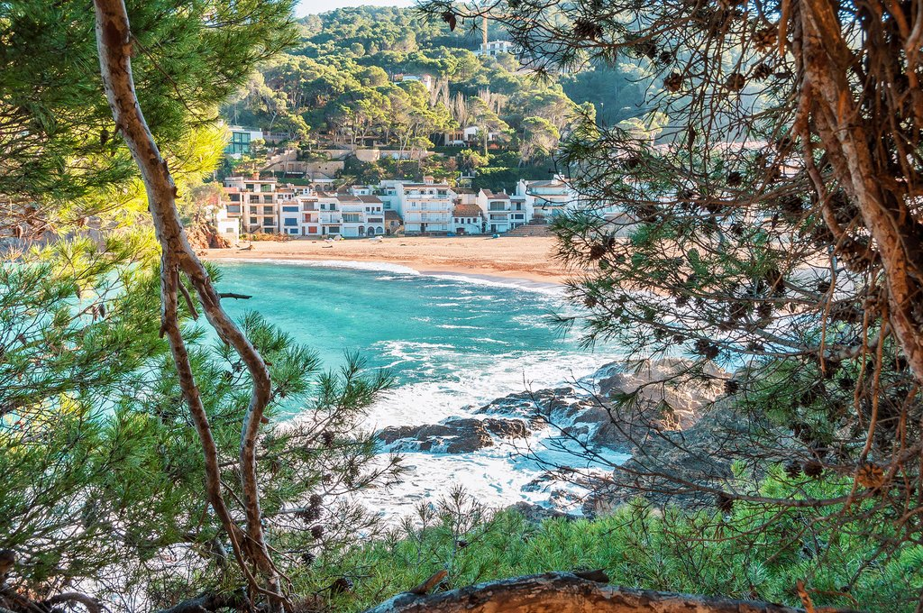 A coastal hiking trail in the Costa Brava