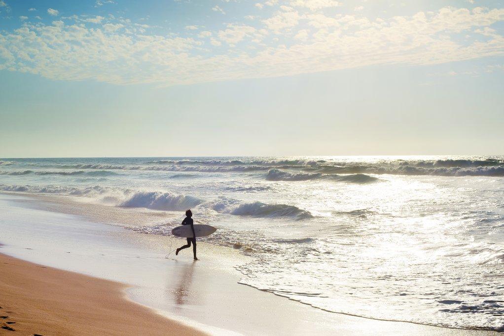 Surfing in the Atlantic Ocean