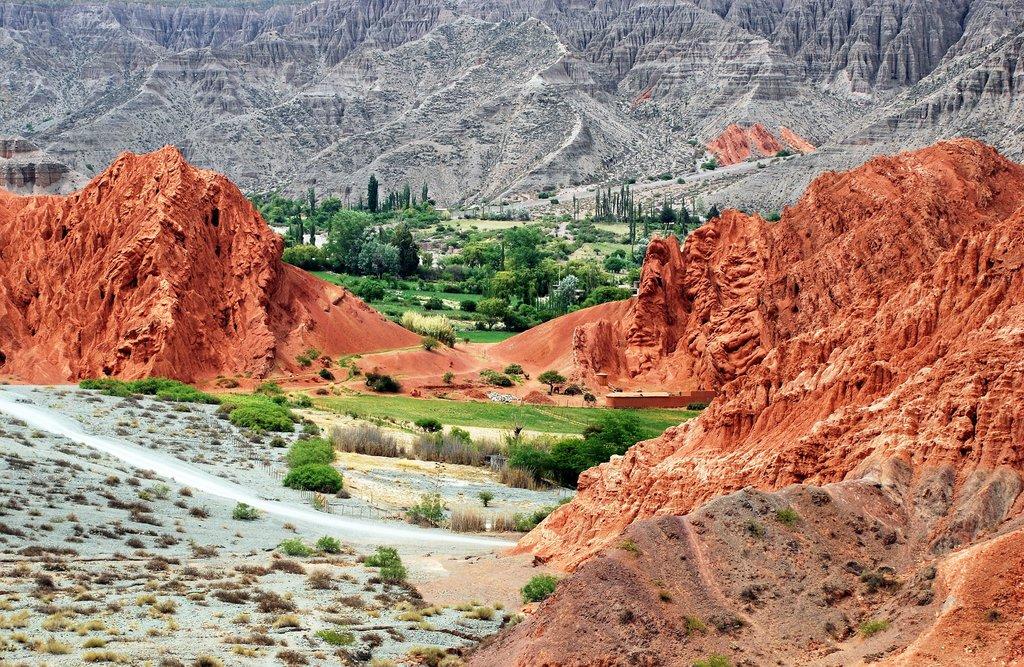 Colorful desert landscapes outside of Salta