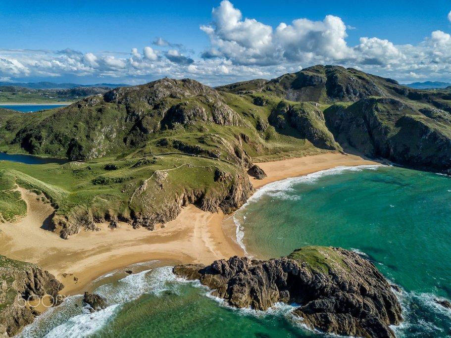 A picturesque beach in Northern Ireland