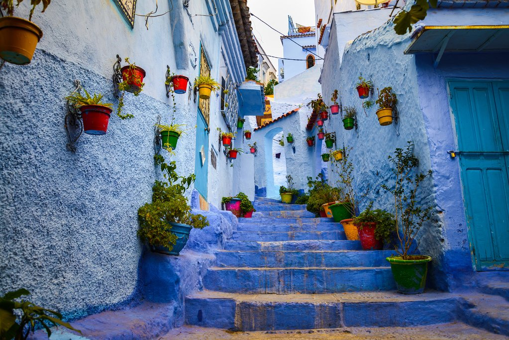 The blue-hued Medina in Chefchaouen