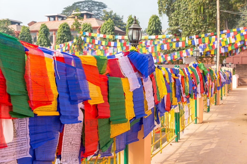 Prayer flags at Bodhgaya