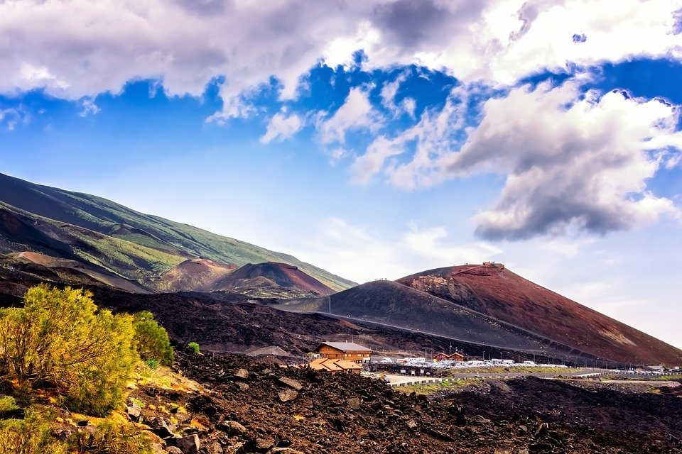 The slopes of Mount Etna, Sicily