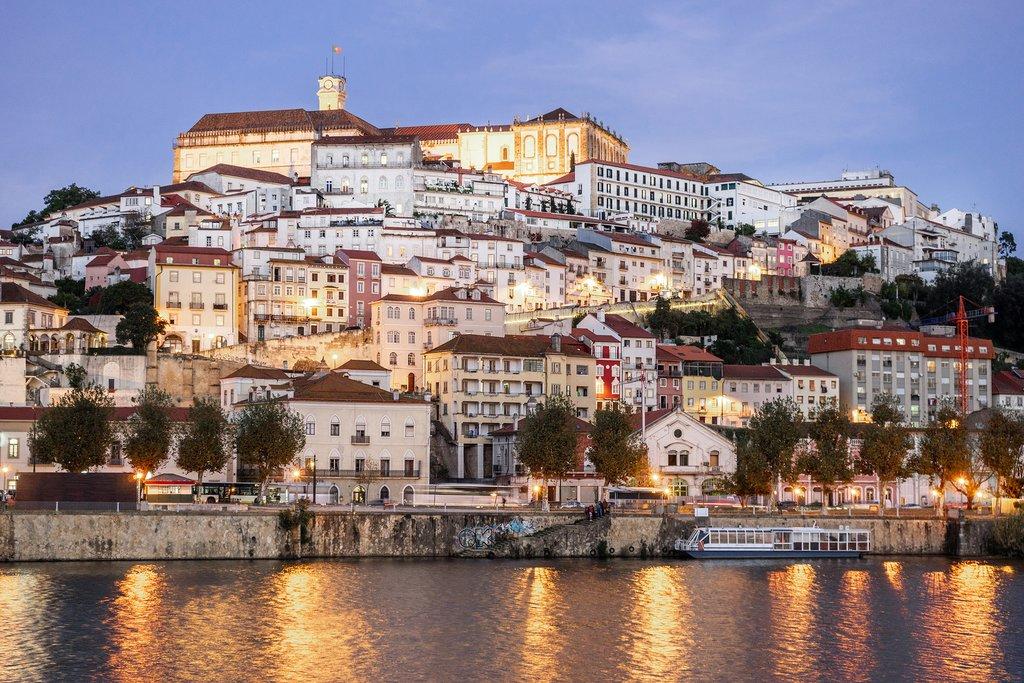 Coimbra Riverfront at Night