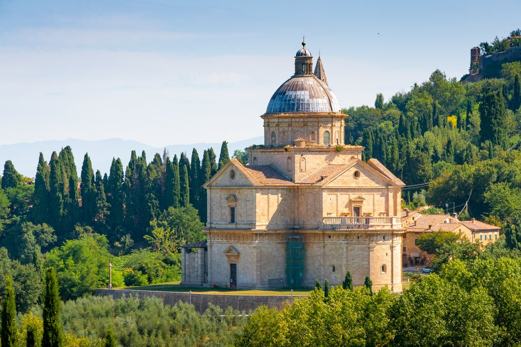 San Biagio church near Montepulciano