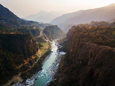 Kali Gandaki river near Kusma