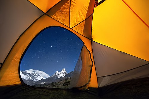 Escape the crowds of the Everest region by getting away with your own tent